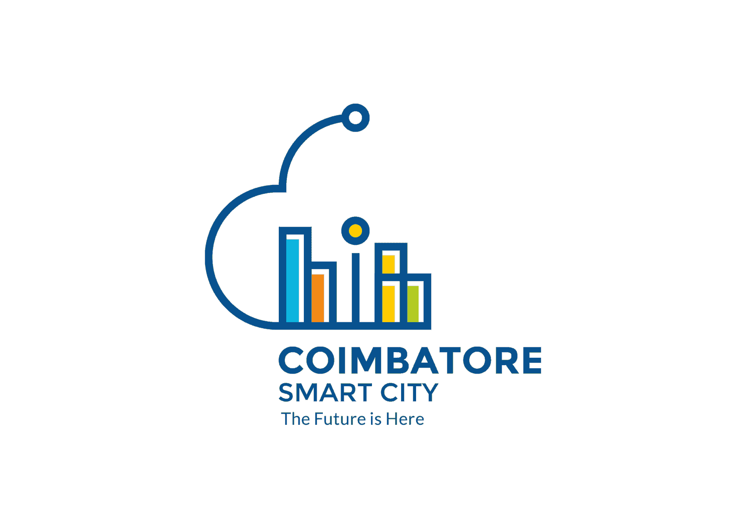 Coimbatore Smart City The Future is Here Logo