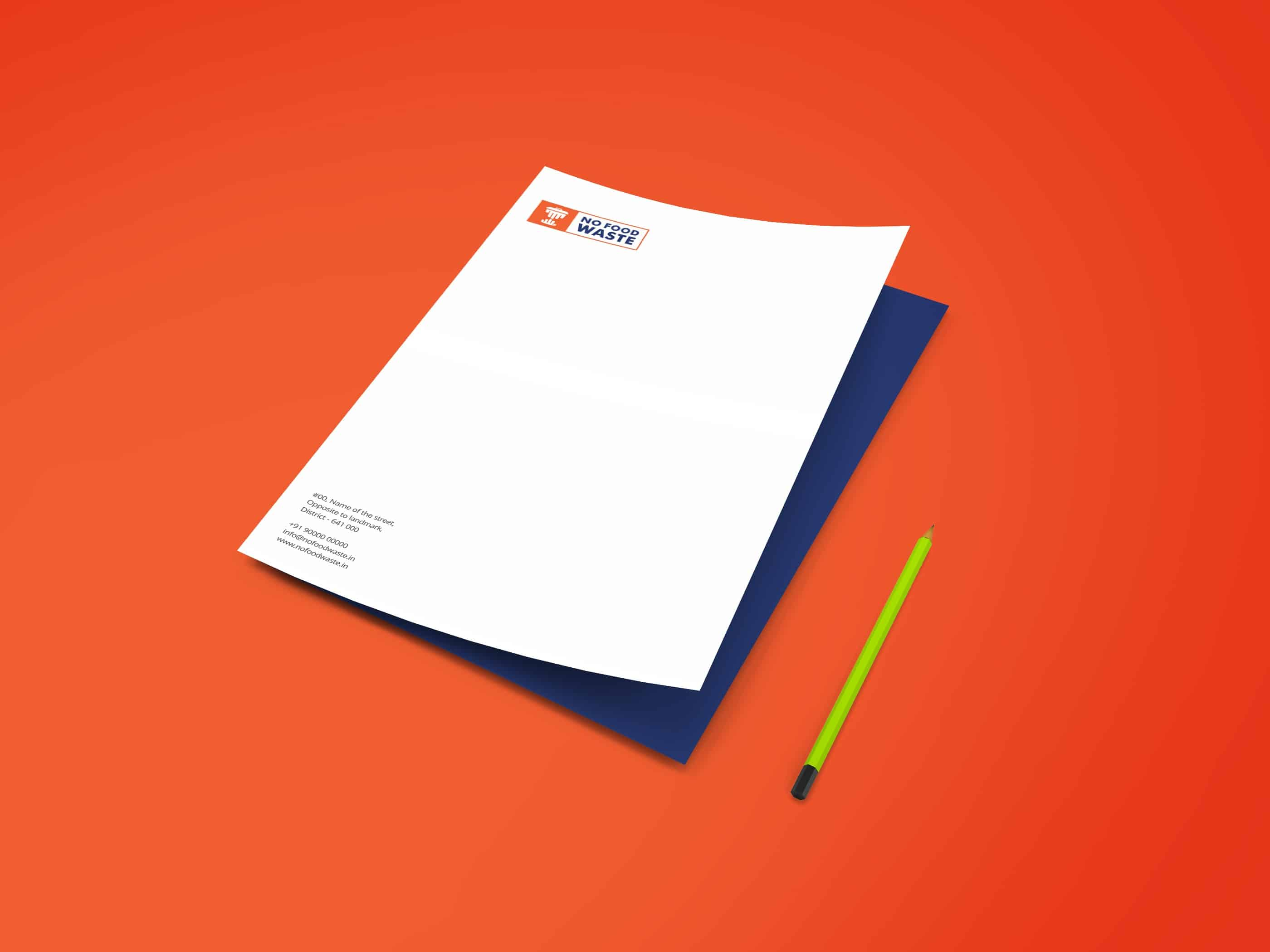 No Food Waste Letterhead